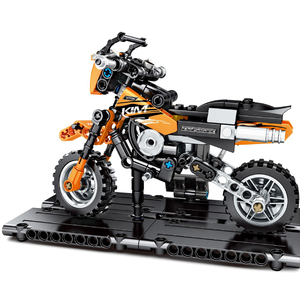 Image 2 - SEMBO 171pcs Technic Motorbike Harleyed Building Block Fit By Technic Motorcycle Car Vehicles Autobike Set for Children Boy Toys