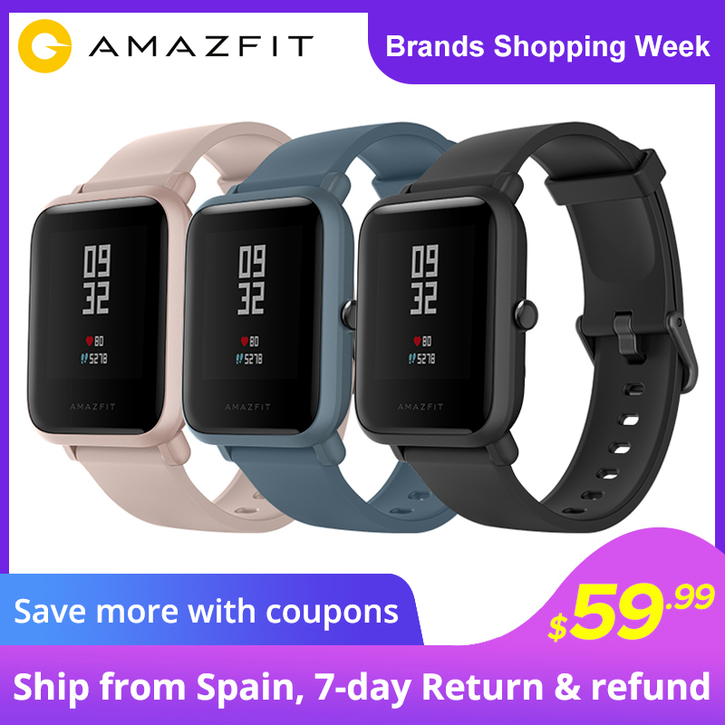 Amazfit Bip Lite Smart Watch 45 Day Battery Life 3ATM Water resistance Activity Healthy Tracking Smartphone