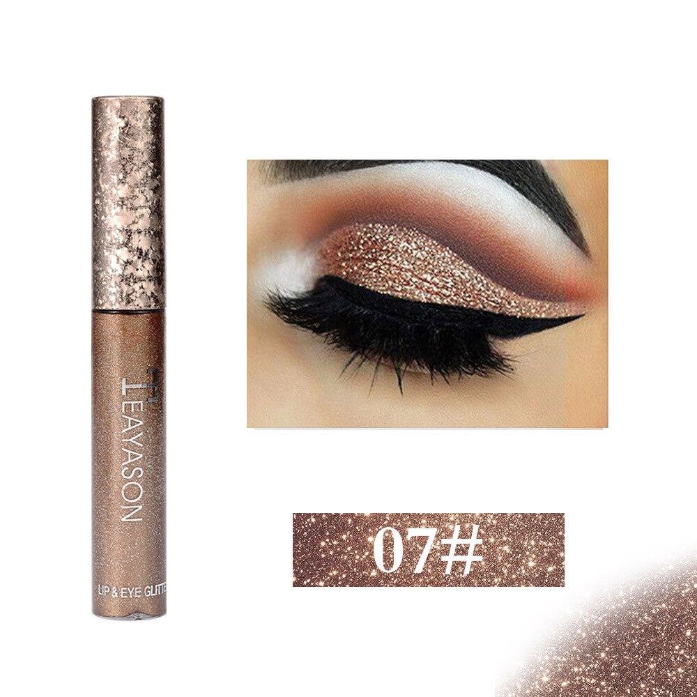 Shimmer Glitter Sombra Deslumbrante Líquido Fluido Caixa de Sombra