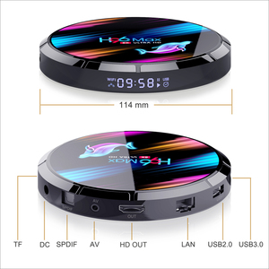 Image 5 - TV Box Android 9,0 H96 max X3 Amlogic S905X3 4GB 128GB 64GB smart tv box 8K android box tv H96X3