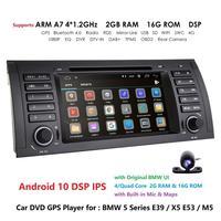 Car DVD Player 7 Quad Cor Android 10.0 for BMW 5 Series E39 /X5 E53/M5/7 Series E38 Radio/SWC/USB/SD/4G/WIFI/MAP GPS DVR Camera