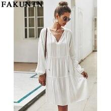 Женское платье fakuntn женская одежда 2021 модные осенне весенние