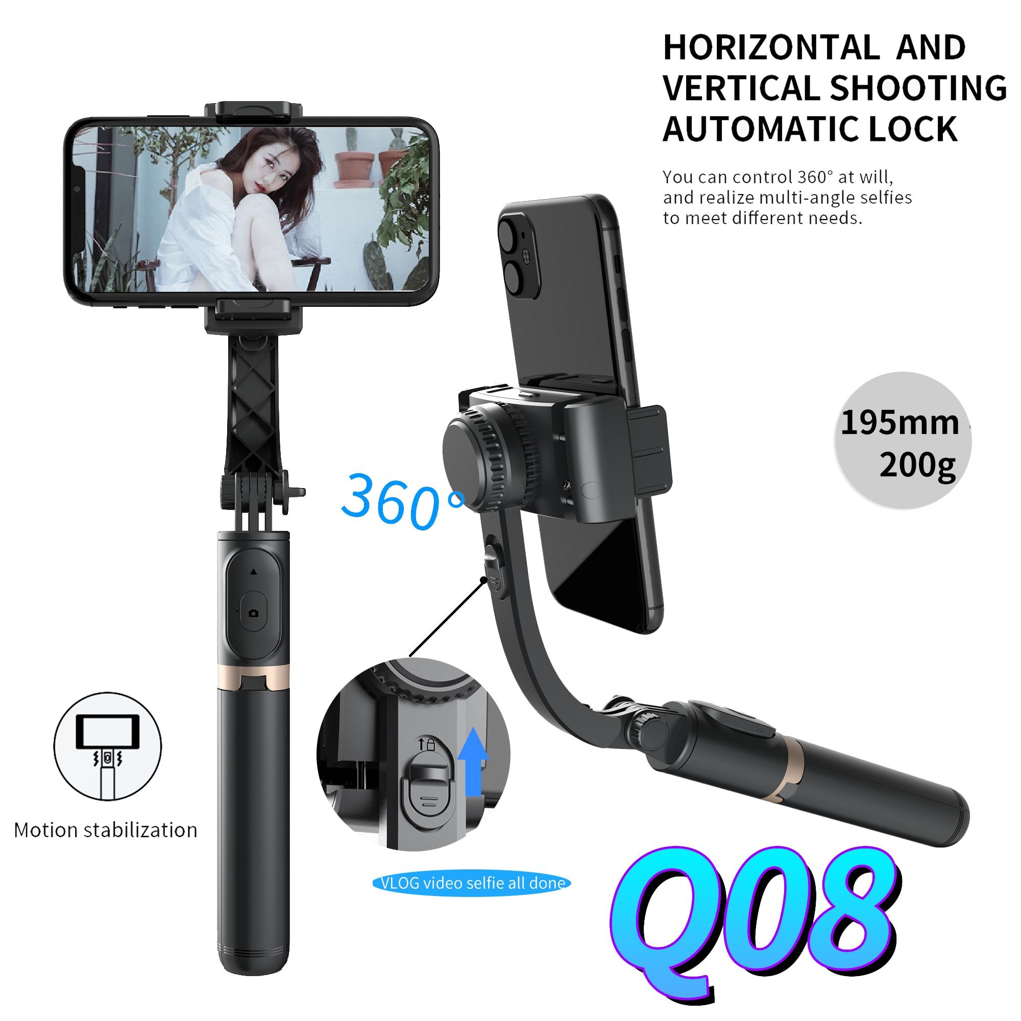 FANGUOTSI 2021 New Bluetooth handheld gimbal stabilizer selfie stick expandable handheld monopod mini tripod For Android IOS