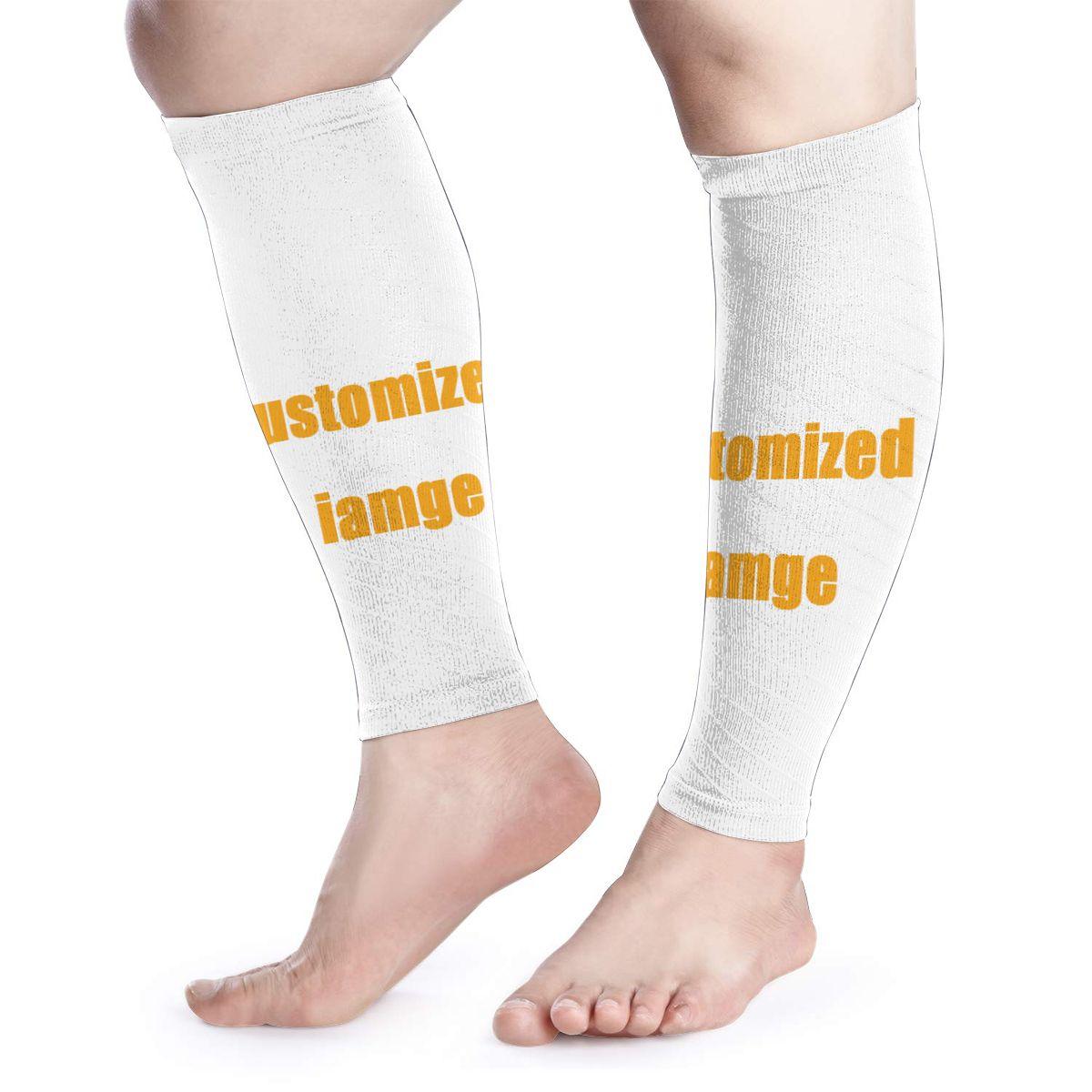 NOISYDESIGNS Custom Sports Calf Support Cycling Leg Warmers Compression Shin Wrap Guard Running Leg Sleeve Legging Calf Sleeves