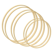 Wreath-Rings Floral Hoops Wedding-Decor Wall-Hanging Wooden Bamboo for And Craft 8inch
