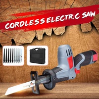 Electric Reciprocating Saws Cordless Carpenter Tools Rechargeable Li ion Electric Saw Garden Woodworking Hand Tool Kit 12V