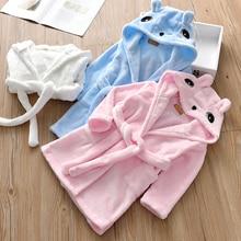 Детские халаты, осенне-зимняя детская одежда, одежда для душа для маленьких девочек, фланелевая ночная рубашка, детская одежда для сна для мальчиков