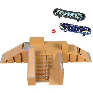 1 Kit Mini Skateboard Toy Skate Park Kit For Fingerboard Skateboard Ramps Fingerboard Park Training Board(China)