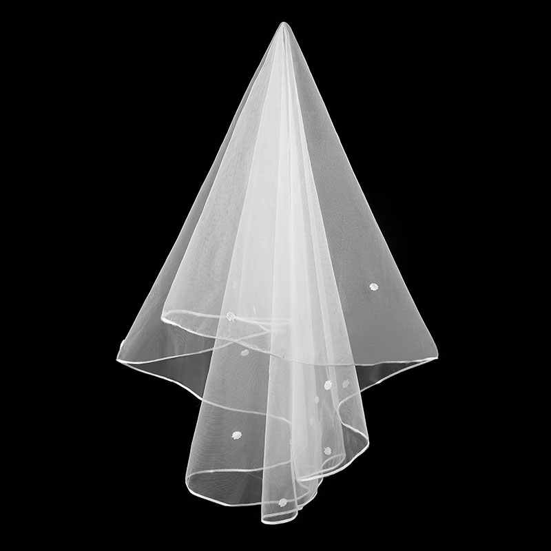 Braut Velos De Novia 2019 Hochzeit Spitze Schleier Frauen 3 Meter Applique Spitze Braut Hochzeit Schleier Mit Kamm