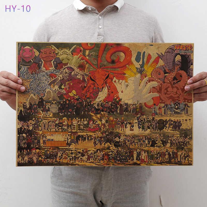 Новый постер Naruto Винтаж Классический Аниме Мультфильм крафт-бумага плакат живопись настенные наклейки домашние декоративные