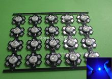 5 10 20 50 100 PCS 1 W 30mil 3 W 32mil Epistars Royal Blue 445nm LED Tanaman Tumbuh lampu Lampu dengan 20 Mm(China)