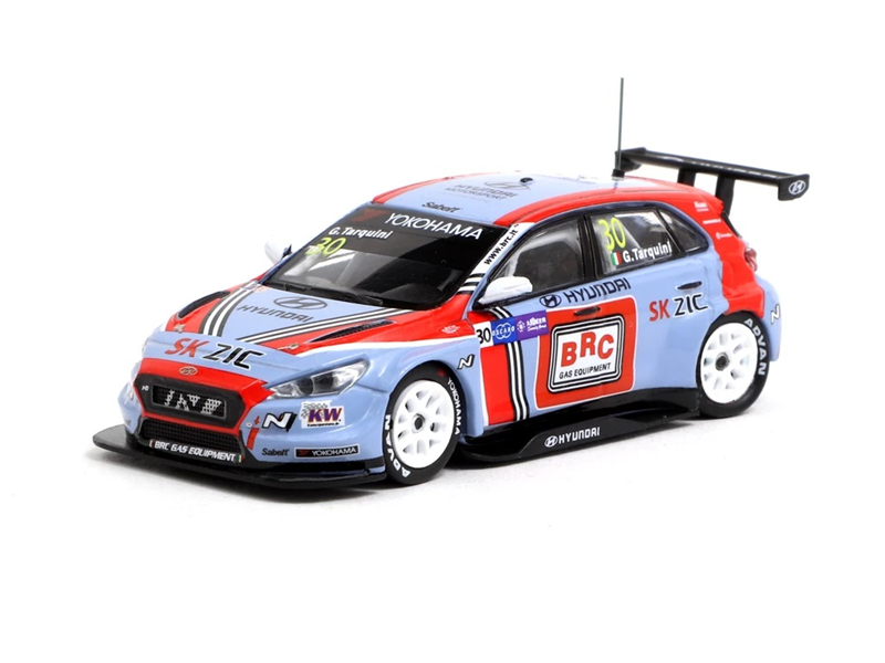 Tarmac Works 1:64 Hyundai I30 N TCR WTCR 2018 Champion Racing Diecast Model Car