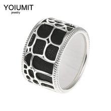 Cremo DIY New Fashion Silver Color Hollow Rings For Women Bijoux Yoiumit 10 Couleur Bague Cuir Interchangeable Female