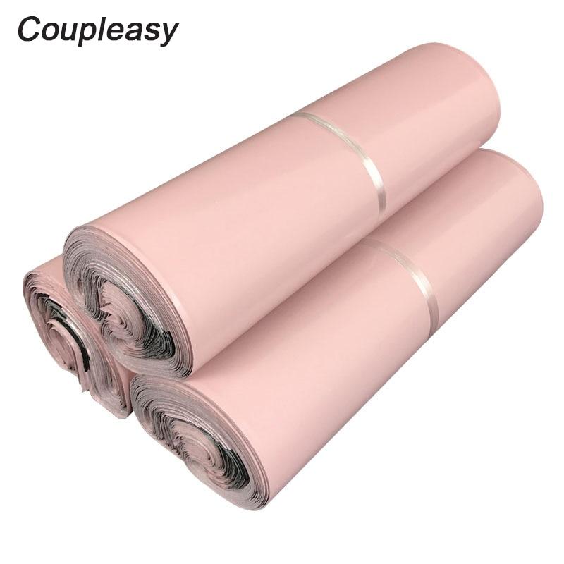 20 шт., розовый светильник, пакеты для доставки, самоклеящиеся курьерские Сумки, водонепроницаемые пластиковые почтовые пакеты, плотные почт...