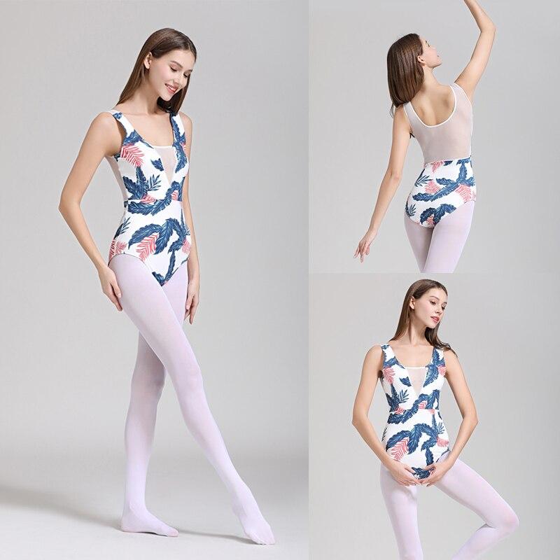 Ballet Leotards Adult 2019 New Design White Color Practice Ballet Dancing Costume Women Gymnastics Leotard Dance Coverall