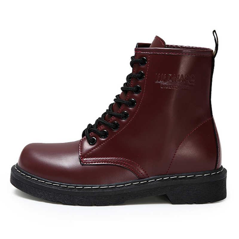 Kadın botları 2019 sıcak yarım çizmeler kadın kış ayakkabı Martin çizmeler kadın Punk gotik ayakkabı rahat kadın ayakkabı siyah büyük boyutu