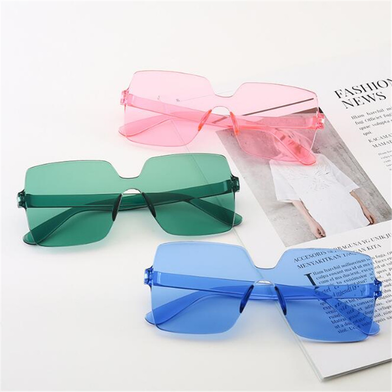 Cheap Square Goggle Sunglasses Women Candy Color Lens Eye Sun Glasses Female Girls Fashion Shades óculos De Sol Eyewear
