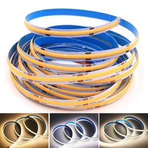 5M DC 12V 24V High Density Flexible COB LED Strip Light RA90 300/308/384/528LEDs/M Flexible LED Tape for Home Decoration