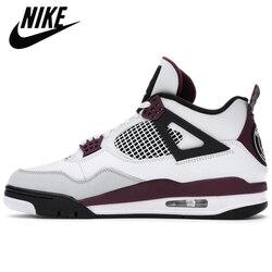 Autentico Nike-Air Jordan Retro 4 PSG Travis Scott Cactus Jack cosa il tatuaggio uomo scarpe da basket Sneakers sportive sca