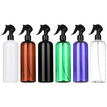 Garrafas de spray de 500ml 1 peça, embalagem plástica multicolor recarregável, recipiente vazio para maquiagem de descarga superior ferramenta,