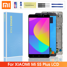 5.7'' Original LCD For Xiaomi 5S Plus MI 5S Plus Mi5S Plus LCD Screen Display Touch Panel Digitizer With Frame For Mi 5s plus for xiaomi mi 5s mi5s lcd display touch screen 100