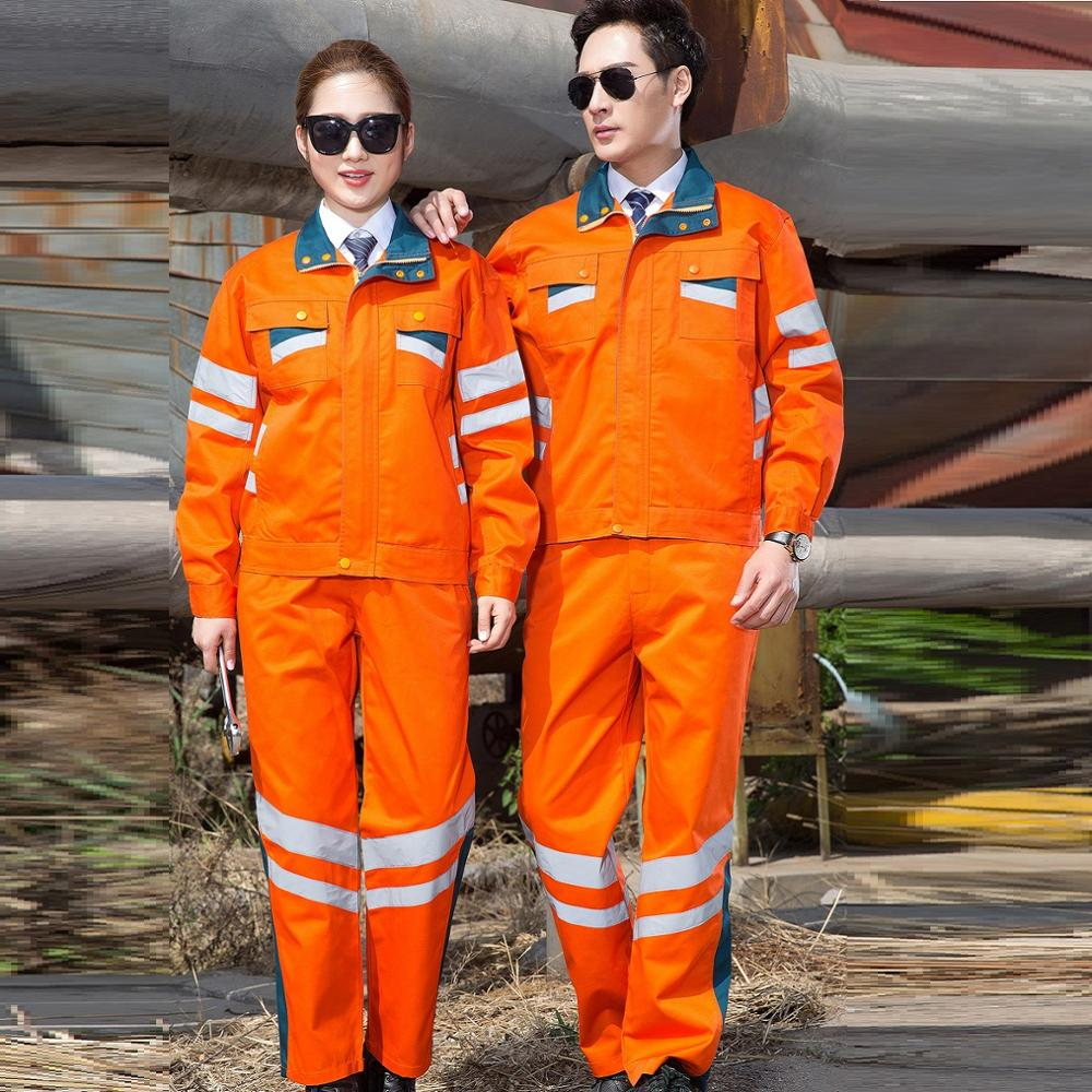 Hi viz Reflective coveralls road administration construction highway rescue garden municipal uniforms sanitation working suits