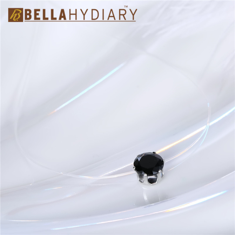 Trendy Diamond Round Rhinestone Choker Necklaces Transparent Fishing Line Necklace Invisible Chain Necklaces Pendants Collier (4)