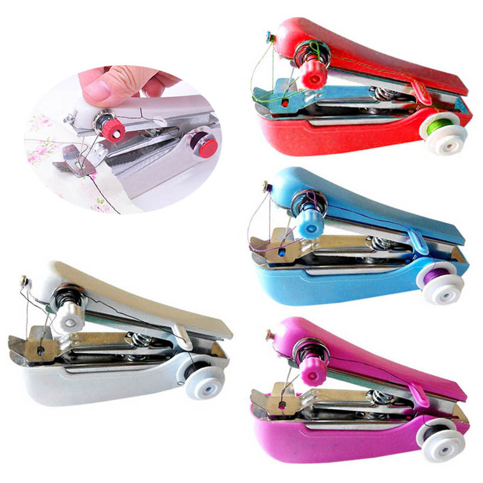 1Pc Mini Sewing Machines Needlework Cordless Hand-Held Clothes Useful Portable Sewing Machines Handwork Tools Accessories