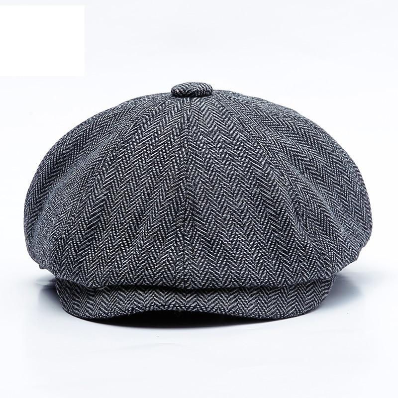 Winter Newsboy Caps Men Peaky Blinders Men Berets Hat Warm Tweed Octagonal Hat For Male Detective Hats Retro Flat Caps Chapeau