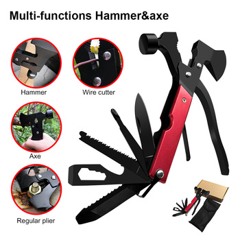Multifunctional Axe Outdoor Camping Survival Tactical Axe Folding Pocket Knife Machete Hammer Pliers Rescue Tools Tomahawk цена 2017