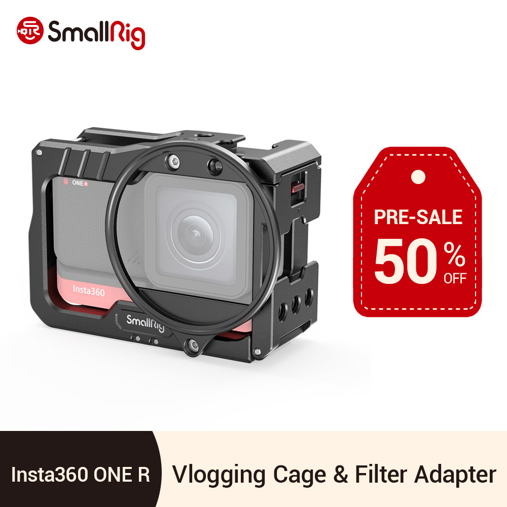 SmallRig Vlog Cage and 52mm Filter Adapter for Insta360 ONE R 4K Edition Camera Cage Video Shooting Tripod Vlooging Support 2901 image