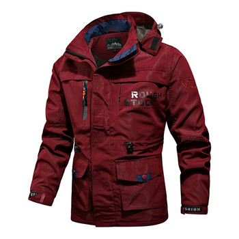 Men Tactical Jacket Autumn Breathable Military Style Army Coat Man Multi Pockets Hooded Windbreaker Waterproof Bomber Jacket 6XL