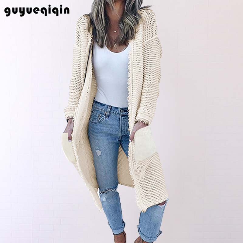 New Arrival Tassel Sweater Women Thick Knitted Long Sweater Cardigan Coat Long Sleeve Winter Warm Sweater Coat Outwear