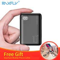 RAXFLY Mini Accumulatori e caricabatterie di riserva 10000mAh Dual USB di Ricarica 3 Tipo di Ingresso Powerbank Per Il Xiaomi Batteria Esterna del Caricatore Carregador Portatil