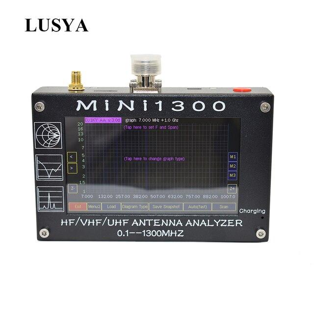 Lusya Mini1300 0.1 1300MHz HF VHF UHF ANT SWR אנטנת Analyzer 4.3 אינץ TFT מסך מובנה סוללה 5V/1.5A 1.01 הקושחה l3 003
