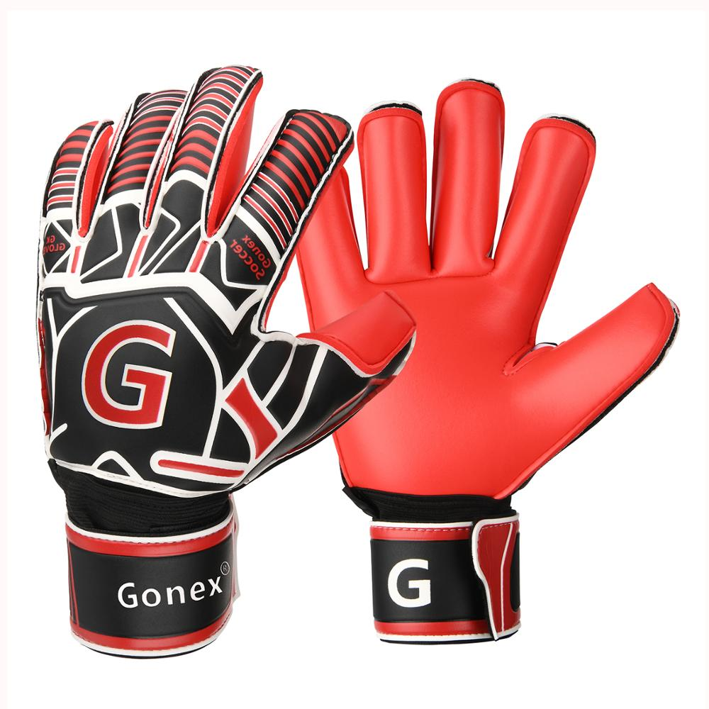Gonex GK Goalie Gloves Soccer Goalkeeper Gloves With Fingersave Spines, Pro-Level Gollies Golly Gloves 3.5mm Superior Grip