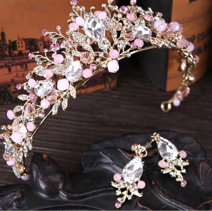 Multi Broca Noiva Coroa Tiara de Cristal