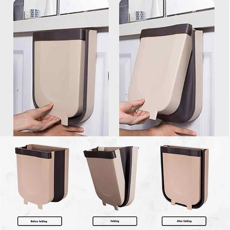 color gris NOPNOG Cubo de basura plegable de 9 litros de polipropileno y elast/ómero termopl/ástico para colgar en la pared