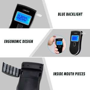 Image 5 - AT818 Digital Breath Alcohol Tester,Car Breathalyzer, Portable Alcohol Meter,Wine Alcohol Test,Blowing Drunk Driving Tester