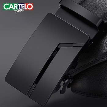 CARTELO Fashion High Quality Business Male Men's Belts Belts For Men Genuine Leather Cowskin Black Belt Automatic Buckle designer fashion men belts luxury automatic buckle cowskin genuine leather belt for men business black waist male strap zd051