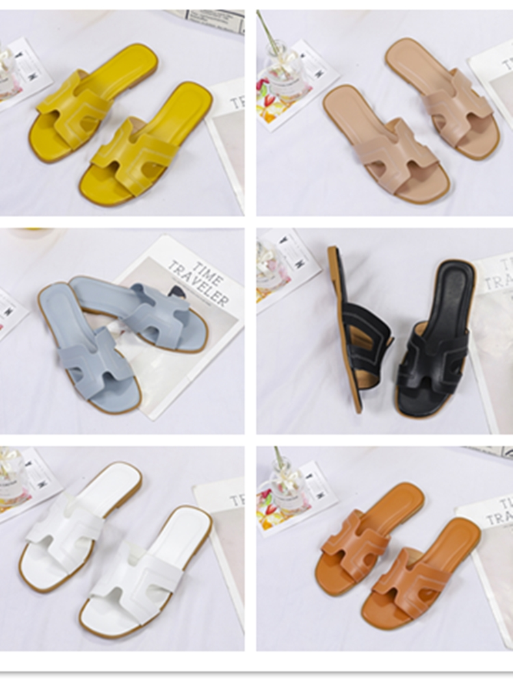 2020 Brand New  Casual Women Sandals High Quality Fashion Slippers Comfortable Walking Shoes Colorful Women Slides Flat Slipper