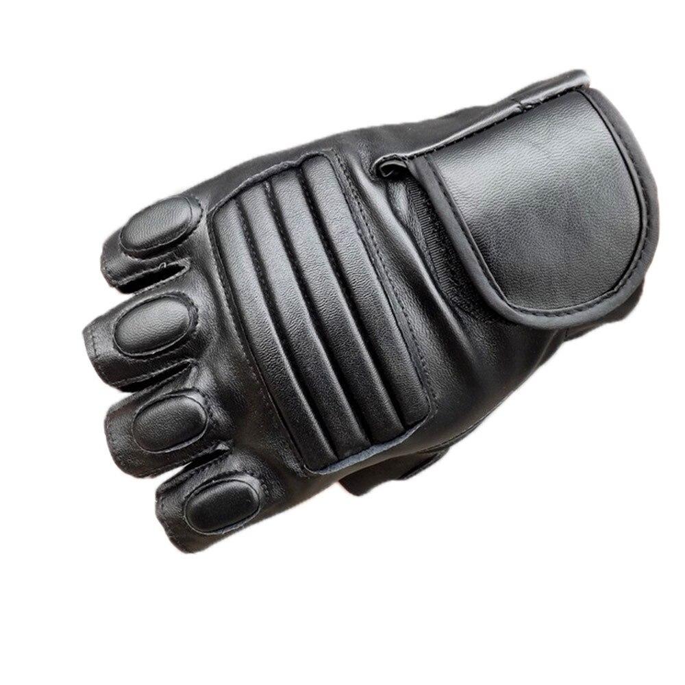 Модные мужские тактические перчатки для спорта на открытом воздухе, военные противоскользящие кожаные перчатки в стиле панк, перчатки для ...