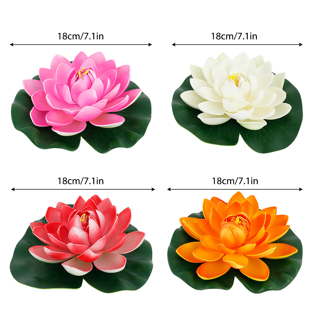 H152729a099054ceebdb2fcd9cb302520R - Simulation Lotus Water Lily Decoration Pond Swimming Pool Suitable For Indoor And Outdoor Applications Garden Water Decoration