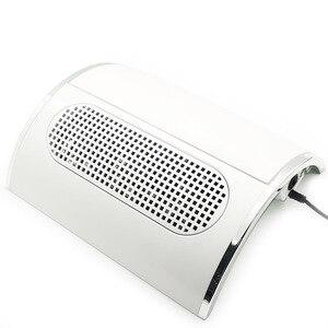 Image 2 - ציפורניים חזקה אבק יניקה אספן עם 3 מאוורר נמוך רועש שואב אבק מניקור כלים עם 2 אבק איסוף שקיות נייל מאסטר