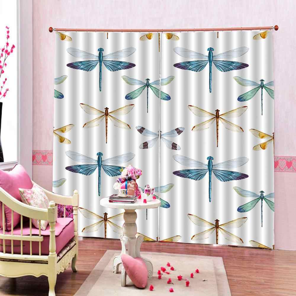 Colorful Insects Window Curtains