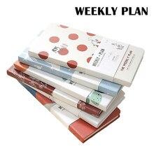 365 dni Planner notebooki A6 czasopisma pamiętnik tygodniowe cele nawyk harmonogram Agenda 2021 Ins stylowe notatniki do szkoły biurowej