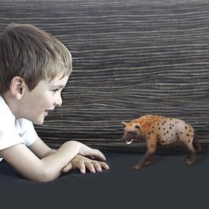Image 4 - Figura en PVC de Animal salvaje de 3,4 pulgadas, modelo de Hiena, juguete preescolar para niños, 14735