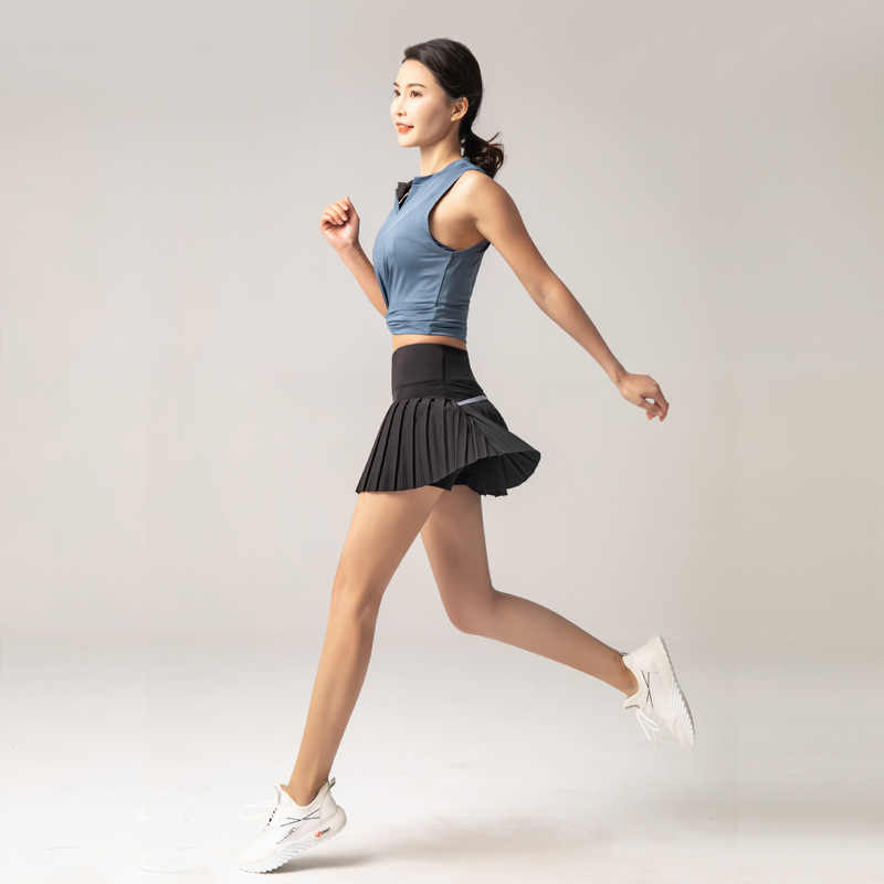 2020 New Sports And Fitness Shorts Women's Anti-Exposure Outdoor Quick Drying Culottes Running Breathable Gym Short Skirt Skirt