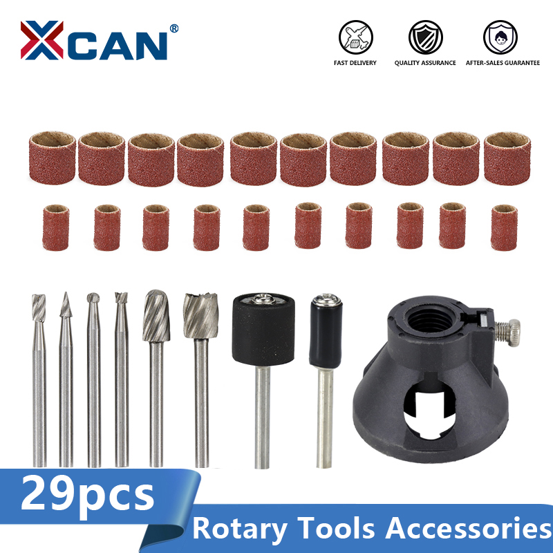 XCAN Rotary Tools Accessories 29pcs For Grinding Sanding Polishing Tool For Dremel Rotary Tools