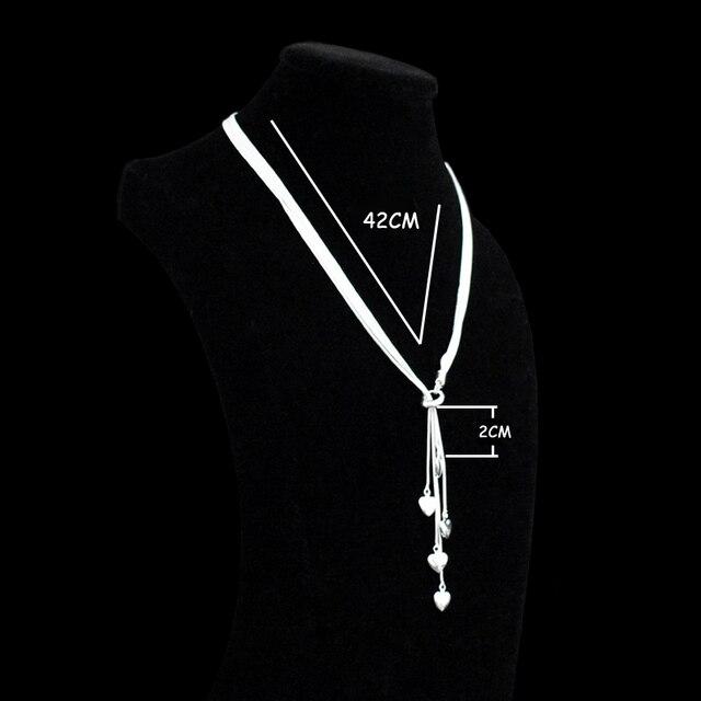 Купить цепочка женская длинная из серебра 925 пробы с подвеской в виде